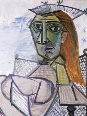 Pablo-Picasso-mujer-sillon
