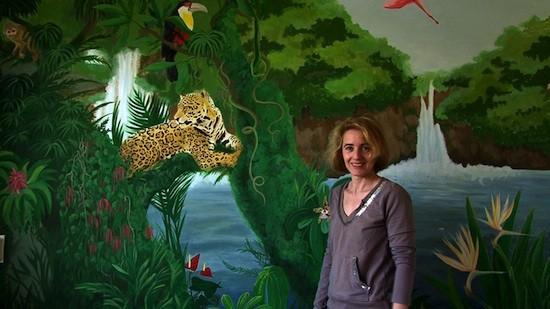"""""""Los ojos de Bacuri"""" (mural con Eduarda)"""