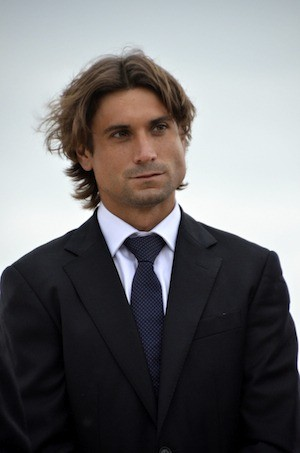 El tenista David Ferrer, en la inauguración del Paseo con su nombre en su ciudad natal, Jávea/Xàbia