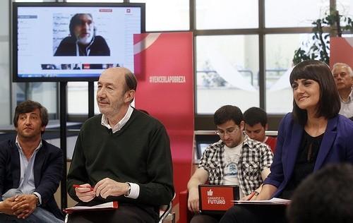 Alfredo Pérez Rubalcaba en el acto #vencerlapobreza