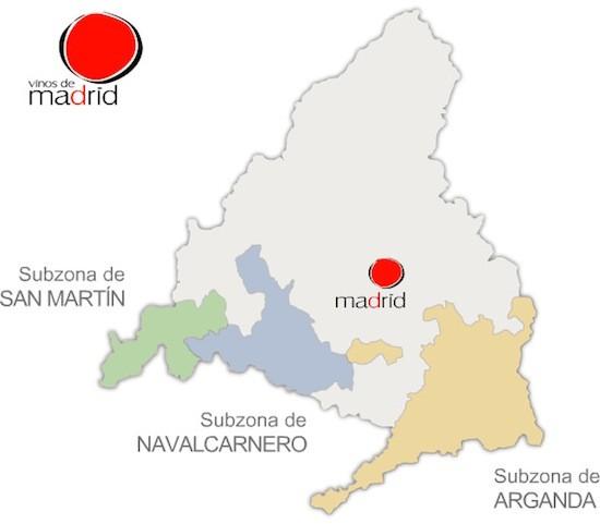 Mapa de los Vinos de Madrid