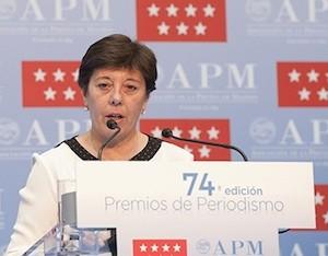 Carmen del Riego, presidenta de la Asociación de la Prensa de Madrid