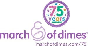 March of Dimes 75th Anniversary Logo. (PRNewsFoto/March of Dimes)