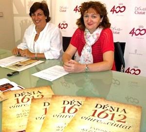 Rosa Seser, archivera municipal de Dénia (derecha) y Pepa Font, concejala de Cultura