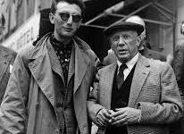 Picasso y Clergue 1954