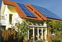 Casa con energía solar