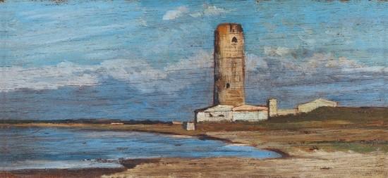 La Torre Roja, de Giovanni Fattori