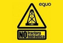 Logo de la campaña de Equo contra el fracking