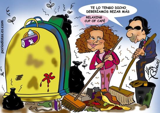 Botella y Aznar despejándose.