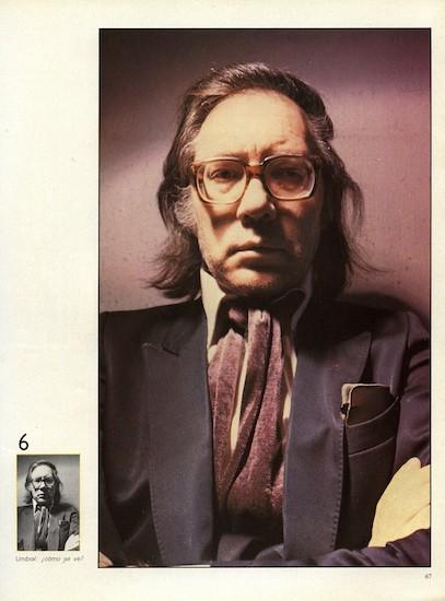 """Francisco Umbral. (C) Alberto Schommer. """"Umbral: ¿cómo se ve?"""" FOTO, nº 0, marzo de 1982"""