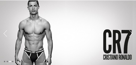 CR7 by Cristiano Ronaldo underwear collection campaign. JBS Textile Group