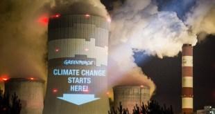 Campaña de Greenpeace de sensibilización sobre el cambio climático en Polonia
