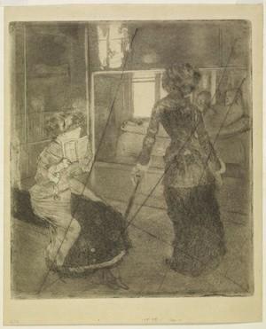 Degas: Mary Cassat en el Louvre. La sala etrusca, 1880