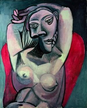 Picasso: mujer en sillón rojo, 1939