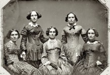 "Frances Benjamin Johnston, ""The 5 Clark Sisters"", ca. 1850"