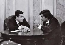(C) Manuel López. Adolfo Suárez y Felipe González en el Congreso de los Diputados, 1977