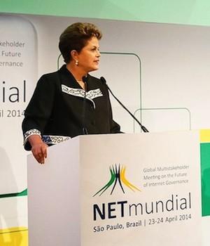 Dilma Rousseff en NetMundial, Foto MercoPress