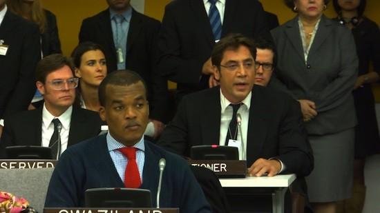 Javier Barden en Naciones Unidas