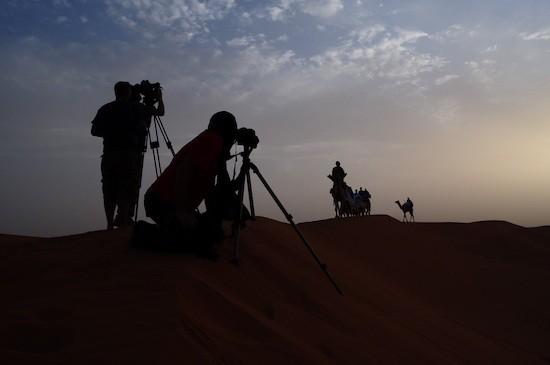 Rodaje en las dunas del desierto del Sahara