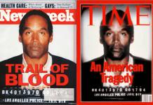O. J. Simpson en las portadas de 'Newsweek' y 'Time', 27 de junio de 1994
