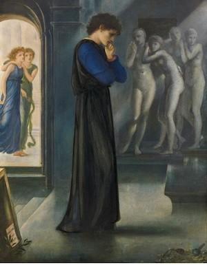 Burne Jones.Pigmalion. 1871. Col. Pérez Simón. México. Museo Thyssen Bornemisza.