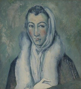 Cézanne.La dama del armiño según el Greco.1885. Londres col. particular