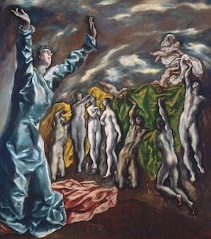 El Greco. La visión de San Juan. h. 1608. MOMA, Nueva York