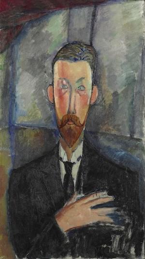 A. Modigliani. Paul Alexandre ante una vidriera. 1913. Ruan, Museo de Bellas Artes. Don. de Blaise et Philippe Alexandre