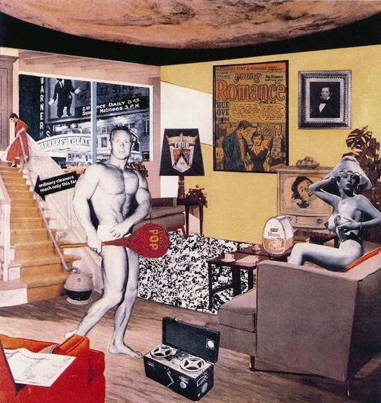 Richard Hamilton: ¿Qué es lo que hizo los hogares de ayer tan distintos, tan atractivos? 1992. Grabado láser en color. 26,2 x 25 cm. Colección Kunstmuseum Winterthur