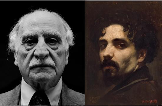 Francisco Ayala retratado por Schommer y autorretrato de Francisco Domingo Marqués