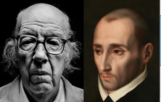 José Luis Lópz Aranguren retratado por Schommer y San Juan de Ribera retratado por Luis de Morales