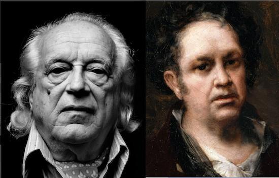 Rafael Alberti retratado por Schommer y autorretrato de Goya