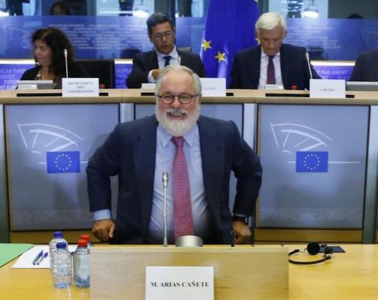 Miguel Arias-Cañete en la Eurocamara