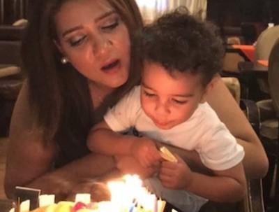 Amal Fathy celebra el cumpleaños de su hijo