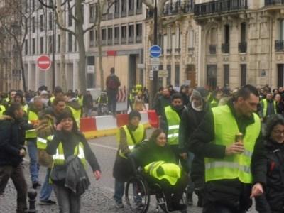 Gilets jaunes en París el 12 de enero de 2019