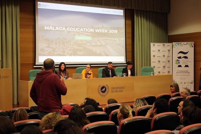 Sesión del Congreso de Español (MEW) en Málaga, enero 2019.