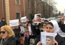 Manifestación en solidaridad con Mehman Huseynov.