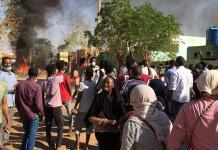 Protestas callejeras en la capital de Sudán, Jartum