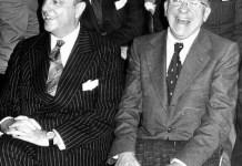 Fraga Iribarne y Santiago Carrillo en 1977