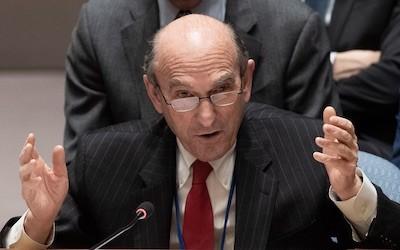 ONU/Evan Schneider Elliot Abrams, enviado especial de Estados Unidos para Venezuela, en el Consejo de Seguridad de la ONU
