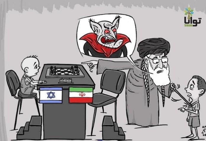 Caricatura alusiva a lo ocurrido con el boicot a Israel realizada por una asociación de derechos humanos.