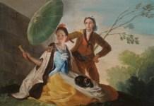 Autor: Goya. (Siglo XVIII). Título de la obra: El quitasol. Copista: Almudena López de Ochoa
