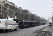 Julio Feo: Despliegue policial en París contra los gilet jaunes, 23 de marzo de 2019