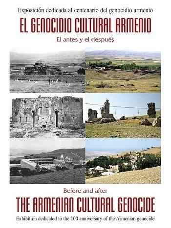 Cartel sobre la exposición del genocidio en la Biblioteca Regional de Castilla La Mancha, en Toledo