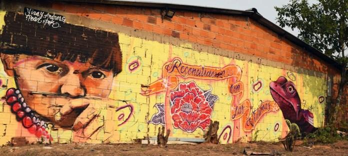 Misión de la ONU en Colombia / Bibiana Moreno: mural abogando por los derechos indígenas en Colombia