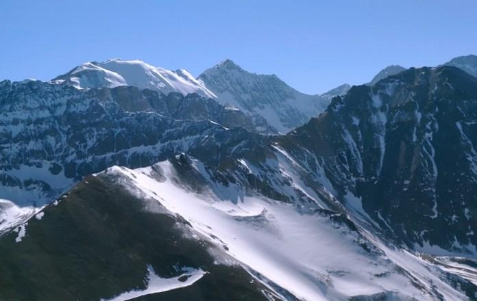 Guzman Cordillere Andes fotograma cimas nevadas