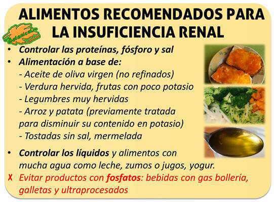 Dieta para personas con insuficiencia renal cronica