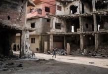 OCHA / Giles Clarke: casas destruidas por los bombardeos en Trípoli