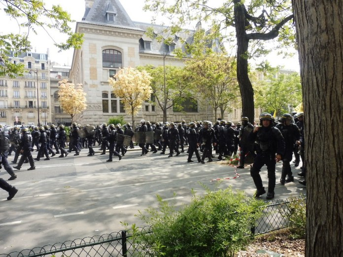 Paris 1MAY2019 policias