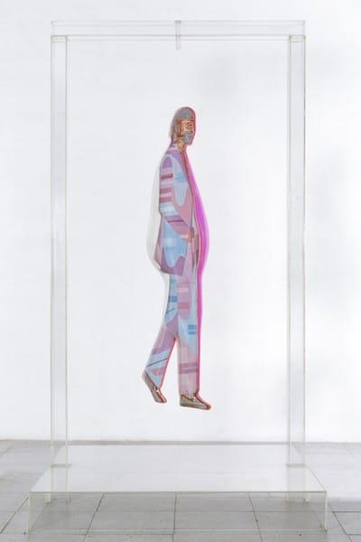 Obra de Darío Villalba de la exposición Pop Soul de en la sala Alcalá 31 de la Comunidad de Madrid.